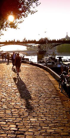 The Seine at sunset, Paris