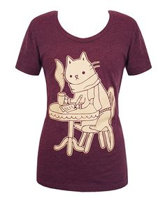 Coffee Shop Cat T-shirt from Hey Chickadee, $26
