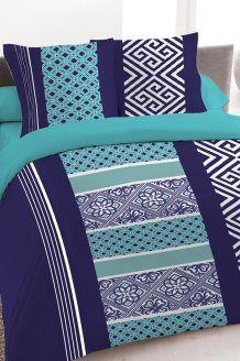 Conjunto de edredão em algodão 57 fios/cm² Pacha - Azul