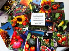 I used some of my harvest pics from the past two years to order business cards. So excited!!!  us.moo.com  www.gardenanywherebox.com