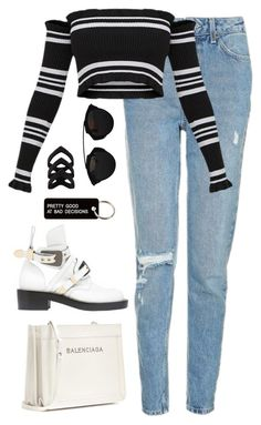 A fashion look from December 2017 featuring Topshop jeans, Balenciaga ankle booties and Balenciaga shoulder bags. Browse and shop related looks. Teenager Fashion Trends, Teen Fashion, Korean Fashion, Fashion Outfits, Dior Fashion, Teenage Outfits, Outfits For Teens, Fall Outfits, Summer Outfits