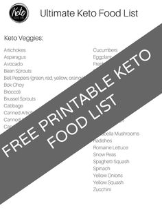 Free Printable Keto Food List - Printable Shopping List - The Ultimate List Of Keto Foods