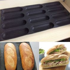 Silicone Fiberglass French Bread Baking 12 Rolls Mold Baguette Pan Bakeware >>> You can get more details by clicking on the image. Bread Mold, Pan Bread, Bread Baking, French Baguette, Sandwich Shops, Baking Tools, Food Service, Bakeware, Tray Bakes