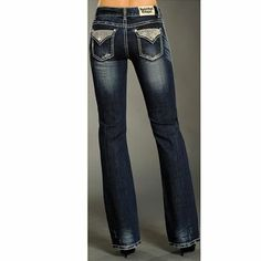 Rock & Roll Cowgirl Women's Rhinestone Flap Jeans