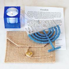 Beaded Menorah Ornament. Great gift!