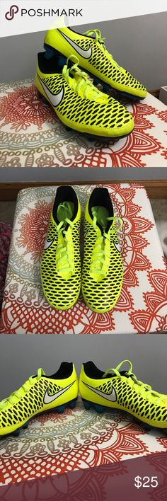 Nike MAGISTA Soccer Cleats Good condition Nike soccer cleats; only wore them to one practice and haven't worn them since. MAGISTA Nike Shoes Athletic Shoes