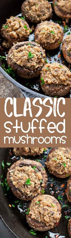 These classic stuffed mushrooms are a total crowd pleaser! Serve them ...