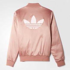 Nwt Adidas Track / Giubbotto Di Raso Rosa Nwt Moda Pinterest