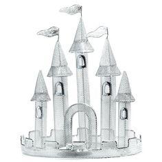 Silver Wire Castle Centerpiece (set of 2)