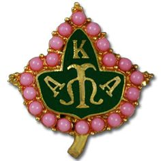 This Alpha Kappa Alpha Ivy Pearl Pin comes exactly as shown. It is made up of metal and has a bar clasp closure in the back. This pin is only available for Alpha Kappa Alpha Sorority. Aka Sorority, Alpha Kappa Alpha Sorority, Sorority And Fraternity, Sorority Life, Greek Gifts, Lapel Pins, Pretty In Pink, Pretty Girls, Pink And Green