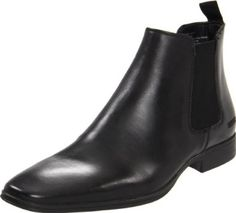 """Kenneth Cole REACTION Men's Power Lift Pull-On Boot,Black,8 M US Kenneth Cole REACTION. $128.00. Heel measures approximately 1."""". Shaft measures approximately 5."""" from arch. Rubber sole. leather. Made in China"""