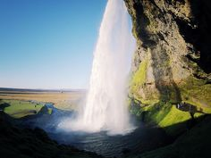waterfall in iceland by Adrien DONOT, via Flickr