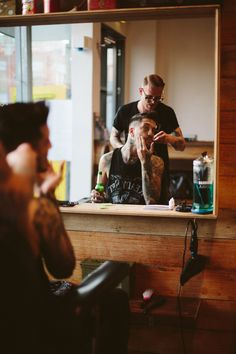 of mice and men band tattoos, austin carlile, barber style, hair cut, barber shop