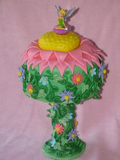 Tinkerbell cake!!! Sprinkled with Pixie Dust of course!!!!