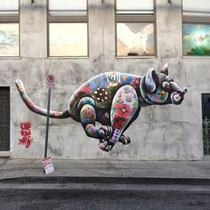 street art Louis Masai in LA, CA,