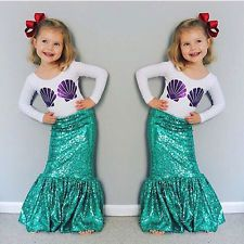 Autumn Toddler Children's Girls Mermaid Tail Costume Clothing Sets Long Sleeve Shell T shirt+Dress Kids Outfits Christmas(China (Mainland)) Toddler Mermaid Costumes, Girls Mermaid Costume, Mermaid Tail Costume, Mermaid Birthday Outfit, Mermaid Halloween Costumes, Girls Mermaid Tail, Mermaid Outfit, Girl Costumes, Costumes For Women