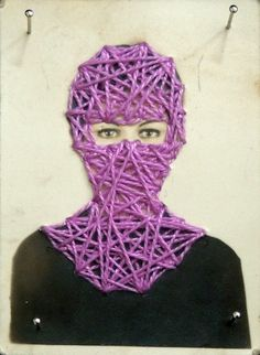 """6.528.13"". bordado sobre fotografia. 2013 Distortion Photography, Contemporary Embroidery, Fabric Pictures, String Art, Fiber Art, Needlework, Cool Art, String Theory, Textiles"