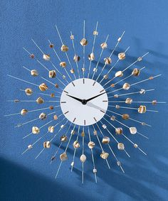 Loving this Sea Shell Clock on #zulily! #zulilyfinds