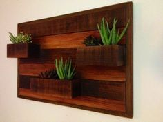 Cedar wall planter made from 100 recycled by ReclamationRepublic