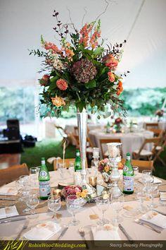 Splendid Tall Centerpiece #weddingflowers #centerpiece #tablesetting