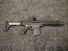 Ninja Weapons, Weapons Guns, Guns And Ammo, Arsenal, Shooting Bench, Ar Pistol, Battle Rifle, Military Guns, Military Art