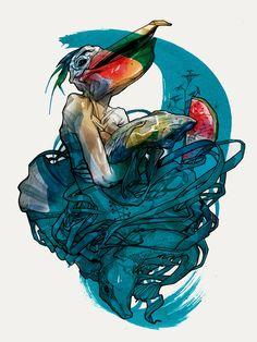 Illustration by Viktor Miller-Gausa, love the lines