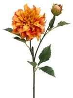 "dahlia spray in honey coral 19.5"" tall 4.5"" bloom"