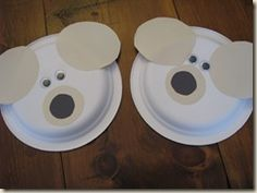 Simple Bear Paper Plate Craft