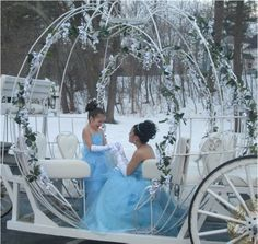 We were able to get our Cinderella Carriage out to do this Quinceanera with the snow in the background
