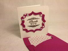 Mini card con busta modello stampin up.