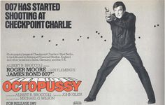 """""""Octopussy"""",British Quad (30""""x40"""") Advance for the release of the movie in 1983."""