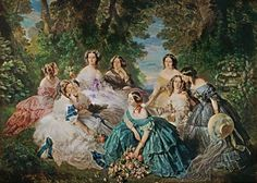 Franz Xaver Winterhalter - The Empress Eugenie Surrounded by her Ladies in Waiting