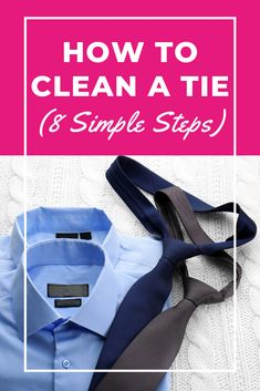 Ties can add much to a formal outfit, but knowing how to clean a tie may only seem to add stress to your day, especially if you don't have a good dry cleaning service, Now's your chance to learn how to do it in 8 simple steps. Laundry Storage, Diy Storage, Dry Cleaning Services, Doing Laundry, Ties, Formal, Outfit, Simple, Tie Dye Outfits