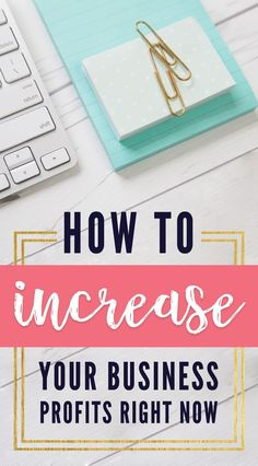 Increasing profits is the number one goal of every small business owner. Learn how to increase your profits now!