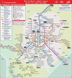 madrid map | Metro map of Madrid. Metro maps of Spain. — Planetolog.com