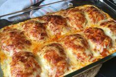 Huevos rellenos de carne gratinados Gouda, Carne Picada, Mince Meat, Chicken Salad Recipes, Recipe For 4, Casserole Recipes, Food To Make, Easy Meals, Food And Drink