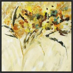 MERCI BOUQUET 28L X 28H Floater Framed Art Giclee Wrapped Canvas