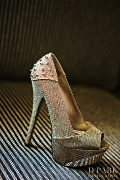 Edgy rocker chic bride wedding heels with studs |  10 Ways to Get Your Ex Boyfriend Back
