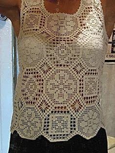 Hobby lavori femminili - ricamo - uncinetto - maglia: canottiera