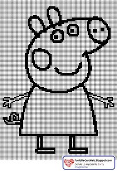 Silueta Peppa Pig En Punto De Cruz