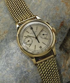 Patek Philippe   A RARE 18K YELLOW GOLD CHRONOGRAPH WRISTWATCH WITH TACHOMETER AND REGISTER 1951 REF 530 MVT 868120 CASE 512615   Sotheby's