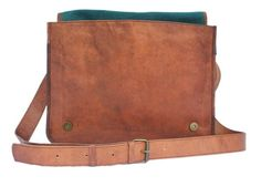 Get your hand on the most amazing looking brown vintage leather messenger bag for men. One of the best looking leather laptop bags available in USA.