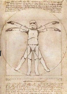storm trooper vitruvian man