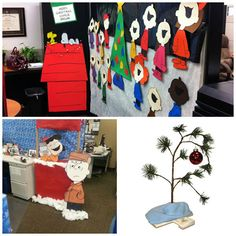 Charlie Brown Christmas Cubicle Mural I Made For This Years