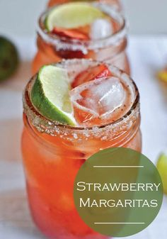 This cold and icy Strawberry Margarita is best served on the rocks – great for hot summer days!
