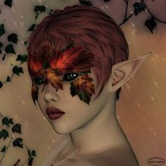 Fairy+Masks | Autumn Fairy face mask with face paint or makeup | Dressing Up