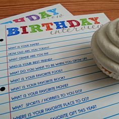 Birthday Interview Free Printable