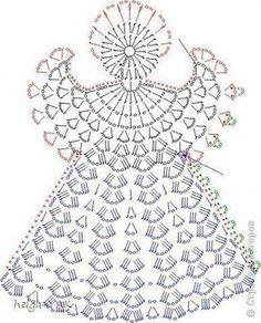 """Schéma ou diagramme pour crochet """"ange"""""""