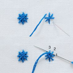 Embroidery Stitches guide - Whipped Spider Web Stitch   molliemakes.com