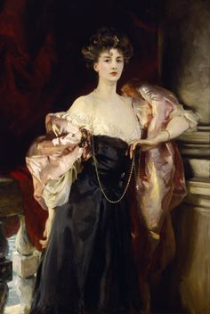 John Singer Sargent.  Portrait of Lady Helen Vincent, Viscountess of d'Abernon, 1904.